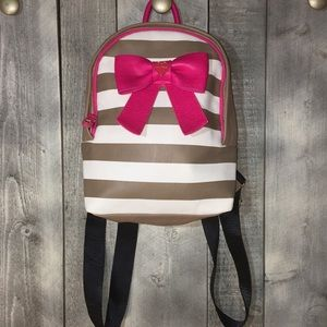 Betsy Johnson Striped Mini Backpack